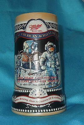 Miller High Life 1990 Stein Commemorating Apollo 11 1969 5Th In The Series