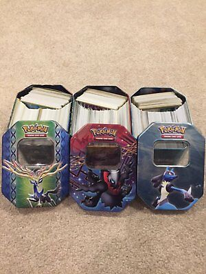 1400+ Huge Pokemon Card Lot w/ Collector Tins (Rare, Uncommons, Commons, Holos)
