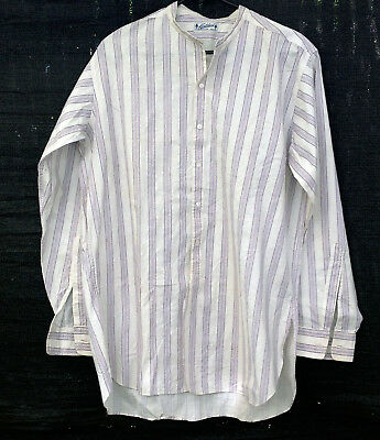 vintage Northland Patrick Duluth long sleeve cotton shirt collarless 16.5