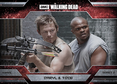 Topps Walking Dead Allegiance Series 2 Daryl Dixon and T-Dog MAGMA 100cc