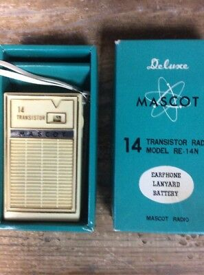 Deluxe Ross Mascot 14 Transistor Radio In Box Model RE - 14N