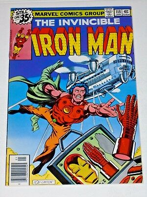 Iron Man #118 comic, High Grade! 1st app. Jim Rhodes, Byrne art
