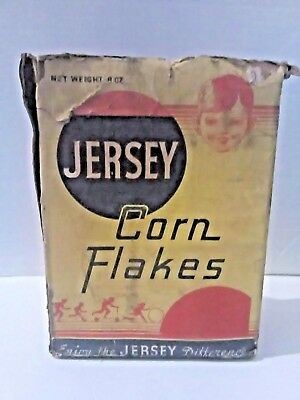 Vintage Jersey Corn Flakes Cereal Box Enjoy the Jersey Difference Copyright 1934
