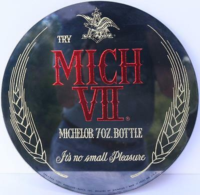 MICHELOB MICH VII 7 oz MIRROR 12 IN DIA ST LOUIS MISSOURI MO BUDWEISER BUD LIGHT