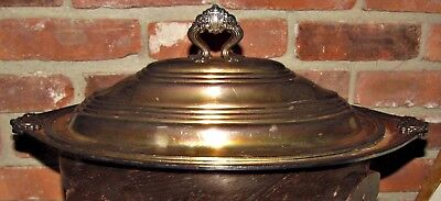 lg antique 1912 downtown boston copley plaza gorham silverplate meat dome & tray