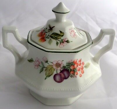 Johnson Brothers Fresh Fruit Sugar Bowl with Lid and 2 Handles England