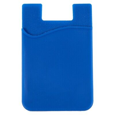 Silicone Wallet Credit Card Cash Stick Adhesive Holder Case For iPhone PK Q9Z6