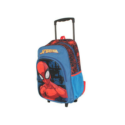 Spiderman Homecoming Trolley Wheelie Suitcase Luggage Travel School Bag for Kids