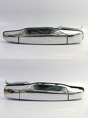 Exterior Outer Outside Door Handle Chrome Rear Left/Right Pair OE Replacement