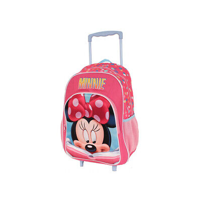 Minnie Mouse Trolley Wheelie Suitcase Luggage Travel School Bag for Kids Disney