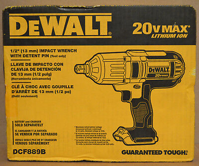 "Brand New Dewalt DCF889B 1/2"" 20V Max High Torque Impact Wrench Bare Tool"