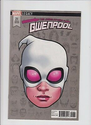 Gwenpool #21 Headshot 1:10 Variant !!  NM/MINT !! Marvel Legacy !!
