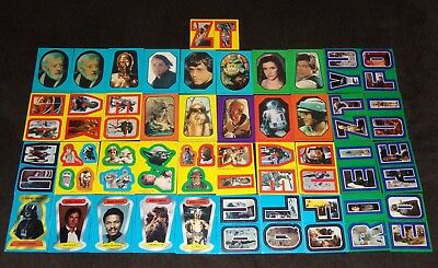 Vintage Star Wars Lot of Various Topps Sticker Cards
