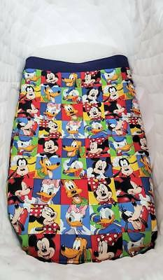 New Mickey Mouse & Friends Bassinet/cradle/pram quilt with soft fleece backing
