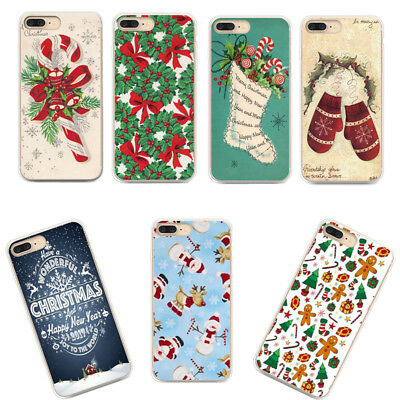 Christmas Patterned Ultra Thin Rubber Soft TPU Silicone Back Case For Samsung S8