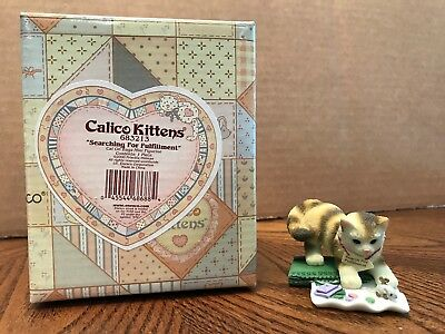 "Enesco Calico Kittens ""Searching For Fulfillment"" Cat On Bags  683213"