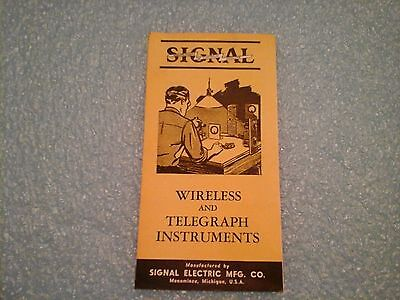 Signal Electric Mfg Co sales brochure for wireless and telegraph instruments