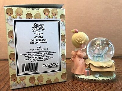Enesco Precious Moments Girl With Gift Mini Waterball  465364