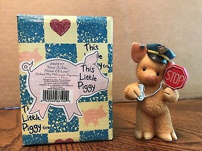 "Enesco This Little Piggy ""Stop In The Name Of Love"" Naked Pig Policeman  649317"