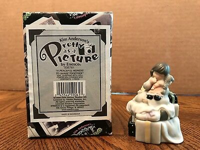 """Enesco Pretty As A Picture """"A Peaceful Moment To Share Together"""" Girl Sleeping"""