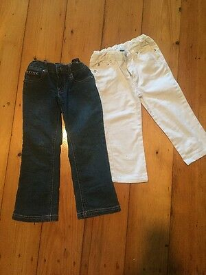 Pumpkin Patch Size 4 Dark Denim Jeans And Ouch White Denim Jeans