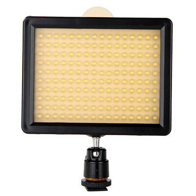 160 LED Video Light Lamp Panel 12W 1280LM Dimmable for Pentax DSLR Camera A N4B9