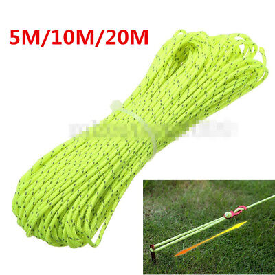 2.5MM Reflective Camping Tarp Tent Rope Runners Guy Line Cord Paracord 20M