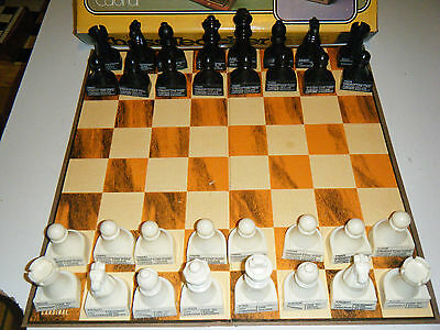 Vintage 1979 Cardinal Teacher Chess Set King Is 3 1/2 Inches Good Condition