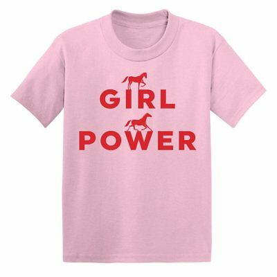 One Horse Threads Girl Power Child's Mini Tee - Berry - All Sizes