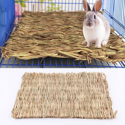 Natural Straw Woven Mat Pad Small Animal Pet Rabbit Bedding Petate 28*21cm HOT