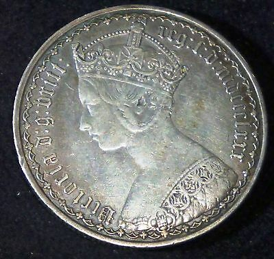 1880 GOTHIC Great Britain Florin KM# 746.4