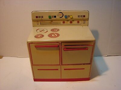 Vintage Wolverine Supply Co Tin Metal Toy Kitchen Play Set Doll Stove