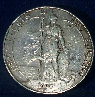 Great Britain,FLORIN - Two Shillings 1908