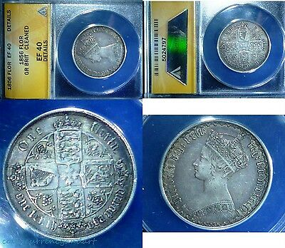 UK (Great Britain) ,1856  Florin, Two Shillings - GOTHIC MDCCCLVI