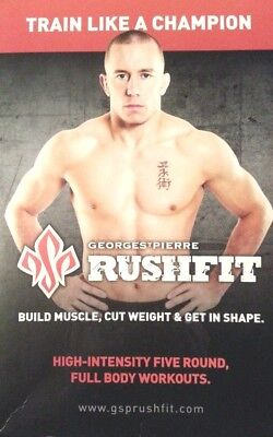 Georges St-Pierre RUSHFIT 6 DVD BOX SET 8 Week Training Camp George St Pierre