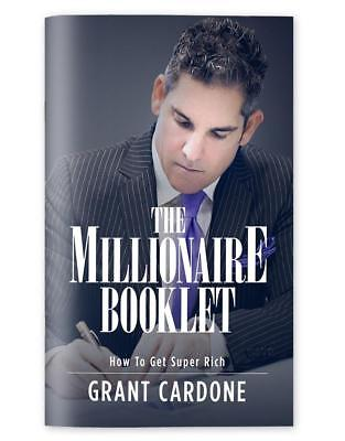 Grant Cardone The Millionaire Booklet Brand New **Same Day Shipping