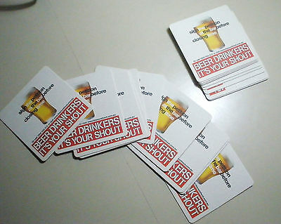 20 x BEER DRINKERS IT'S YOUR SHOUT - HANNA MATCH GROUP -CARDBOARD DRINK COASTERS