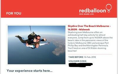 Skydive Over The Beach Voucher