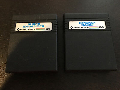 Commodore 64 Simons' BASIC and Super Expander Cartridges (C64) - Used, Working