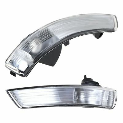 2pcs Side Wing Mirror Turn Signal Light Indicator Cover for Ford Focus II III IV