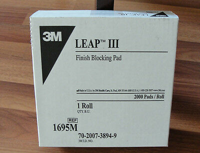 3Boxes 3M 1695 III Finish Blocking Leap Pads Lens Blocking Pads  Roll of 2000