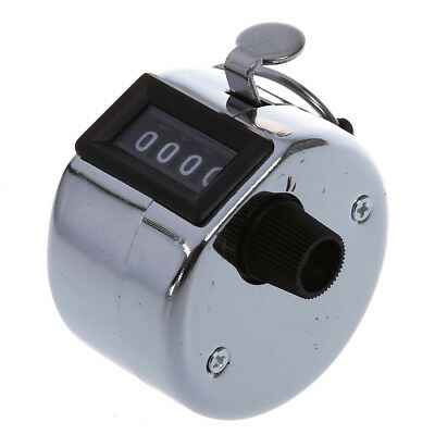 4x Metal Hand Held Tally Counter Counters 4 Digit Palm Golf Clicker Club UK A8U4