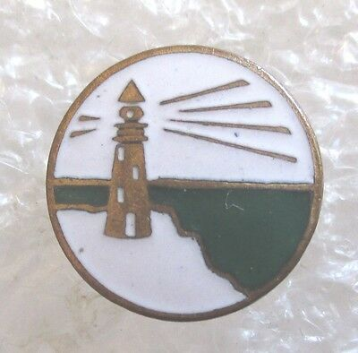 Antique Mystery/Unknown Lighthouse Logo Pin