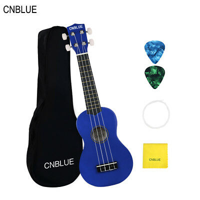 """SOPRANO UKULELE 21""""INCH KIDS GIFTS STARTER WITH DURABLE PADDED BAG CNBLUE- Blue"""
