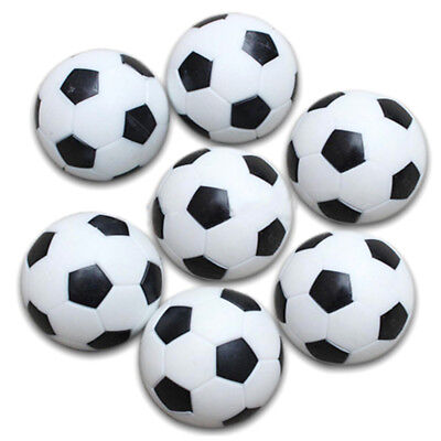 5x Plastic 32mm Soccer Indoor Table Football Ball Replace Black+white A5N9 E2H4