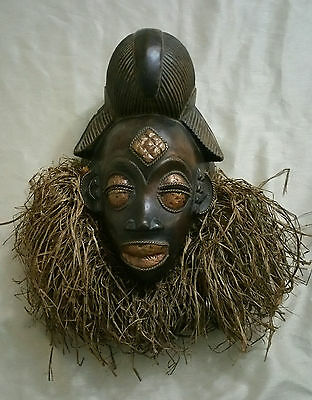 Antique Africa mask hand made wood