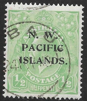 KGV    1/2d  GREEN  SINGLE WMK  N.W.P.I.    FINE USED