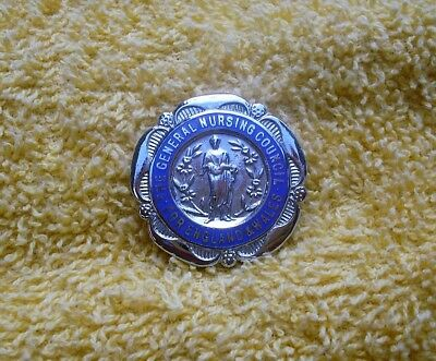 The General Nursing Council For England & Wales Badge. Named & Dated 8.6.51