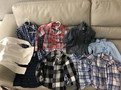Size 3T 3 Years old misc 9 Dress Shirt LOT Toddler Boys Kids Clothes