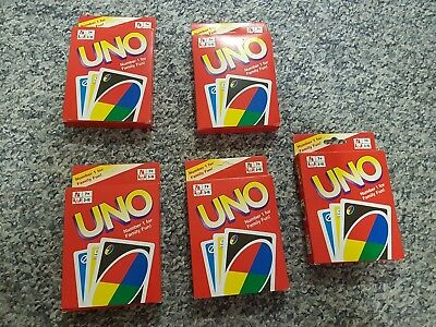 Uno playing cards - 5 packs